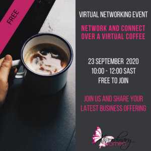 23 September Network & Connect Over a Virtual Coffee