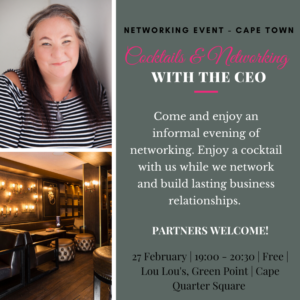 27 February Cocktails & Networking with the CEO